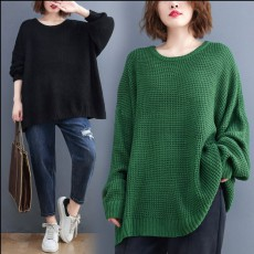 (BE5198) 寬鬆粗線針織衫 (大碼款)