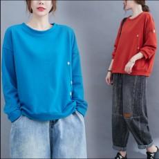 (BE5204) 雛菊刺繡TEE衛衣