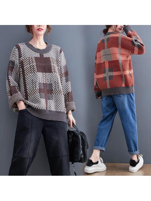 (F10510) 針織上衣 (大碼款)