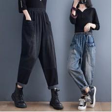 (F10491) 牛仔褲 (大碼款)