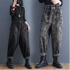 (F10492) 牛仔褲 (大碼款)