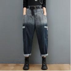 (F10463) 牛仔褲  (大碼款)