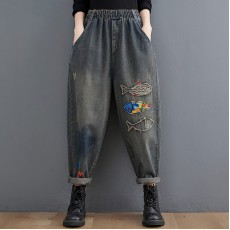 (F10464) 牛仔褲 (大碼款)