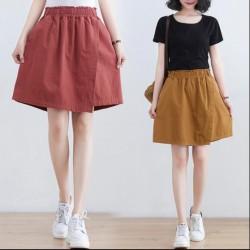 (BE5003) 闊腿寬鬆裙褲