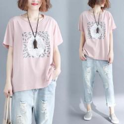 (BE5009)純棉印花短袖TEE