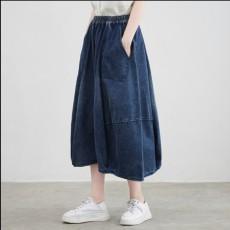 (BE5058) 牛仔中長裙