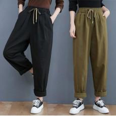 (BE5082) 橡根腰休閒直筒長褲