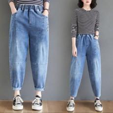 (BE5084) 淺藍色牛仔哈倫褲