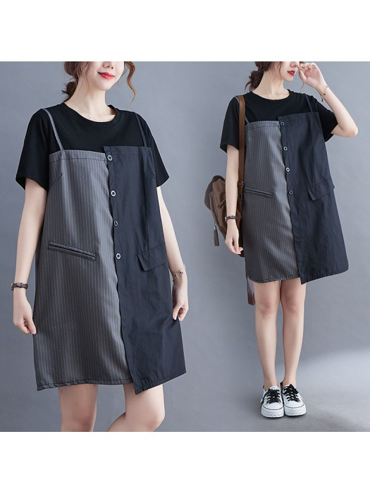 (F10434) 連身裙 (大碼款)