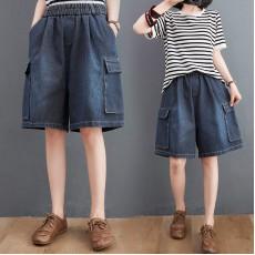 (F10440) 牛仔短褲 (大碼款)