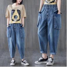 (F10445) 牛仔褲   (大碼款)