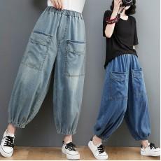 (F10446) 牛仔褲 (大碼款)