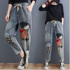 (F10450) 牛仔褲 (大碼款)