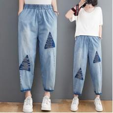 (F10388) 牛仔褲  (大碼款)