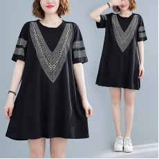 (F10392) 連身裙 (大碼款)