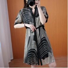 (F10341) 連身裙兩件套  (大碼款)