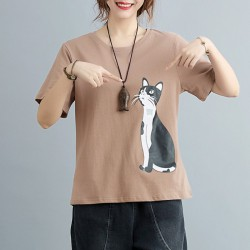 (F10358)  貓  上衣 (大碼款)