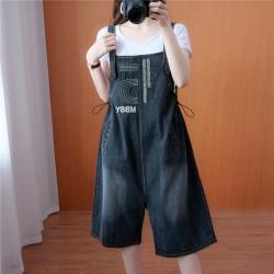 (F10191) 牛仔連身褲 (大碼款)