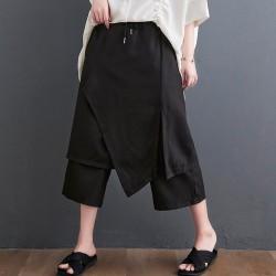 (F10057) 七分哈倫褲 (大碼款)