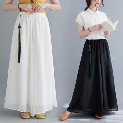 (F10058) 闊腿褲裙褲 (大碼款)