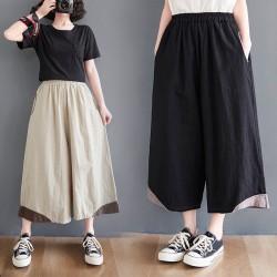 (F10060) 闊腿褲 (大碼款)