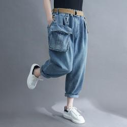 (F9832) 牛仔褲  (大碼款)