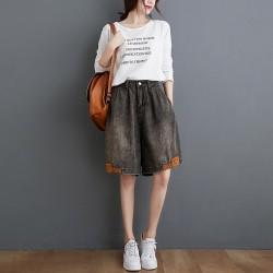 (F9833) 牛仔短褲 (大碼款)
