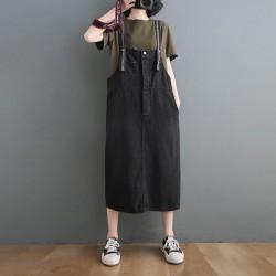 (F9834) 牛仔連身裙 (大碼款)