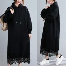 (F9690) 連帽連身裙 (大碼款)