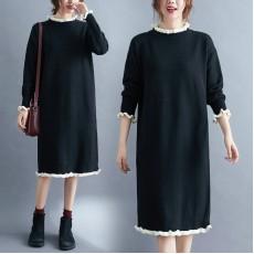 (F9691) 針織連身裙 (大碼款)