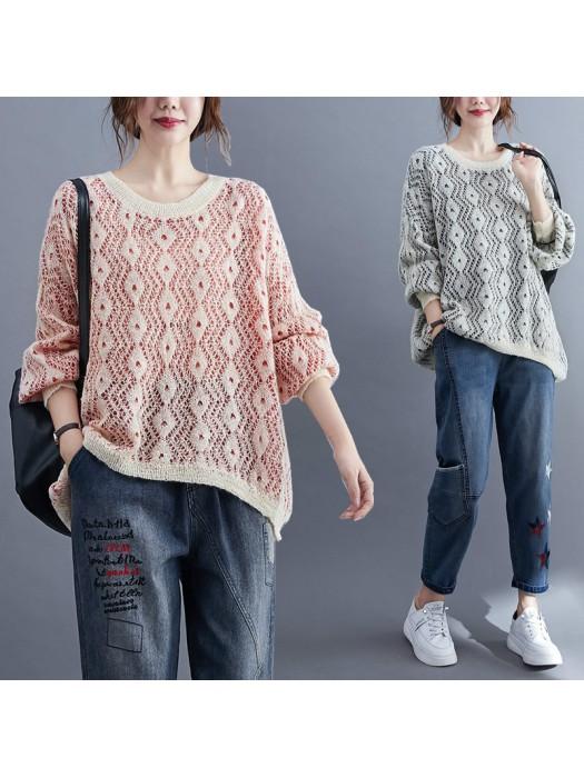 (F9486) 針織上衣 (大碼款)