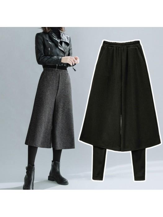 (F9490) 假兩件裙褲 (大碼款)