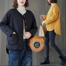 (F01065) 輕薄大夾綿外套 (大碼款)