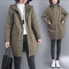 (F01030) 顯瘦連帽外套(大碼款)