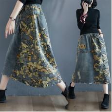 (F9334) 牛仔半身裙 (大碼款)