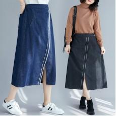 (F9340) 牛仔半身裙 (大碼款)
