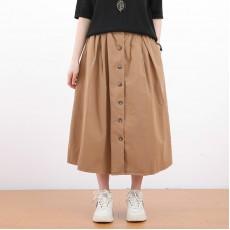 (NA2400) 簡約棉質半身裙