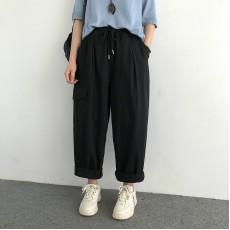 (NA2405) 簡約棉質長褲