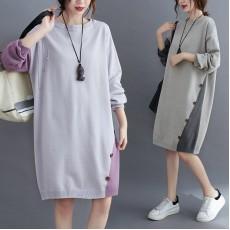 (F9315) 針織連身裙 (大碼款)