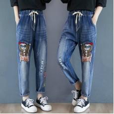 (F9255) 牛仔褲 (大碼款)
