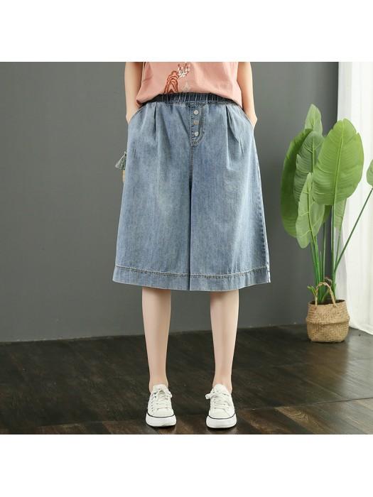 (F9153) 牛仔短褲 (大碼款)