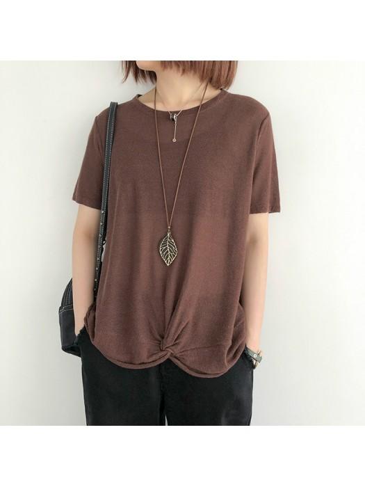 (NA2369) 簡約針織上衣
