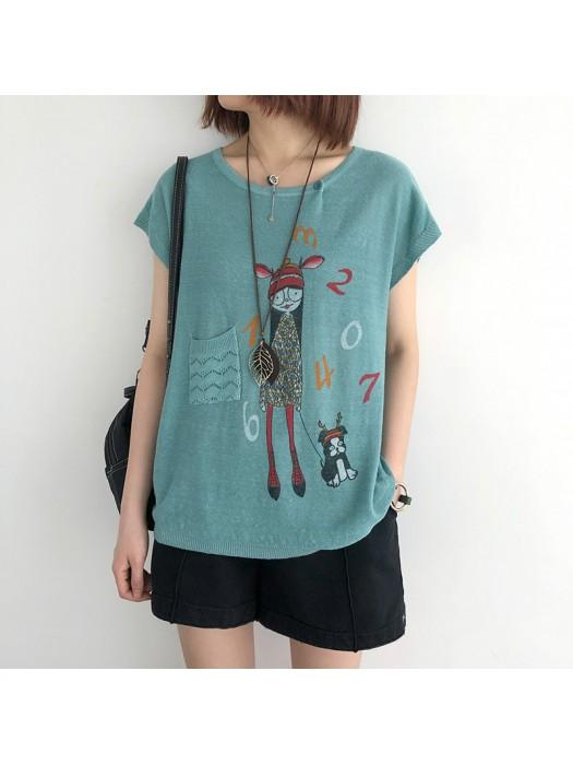 (NA2370) 簡約針織上衣