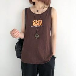 (NA2374) 簡約棉質背心上衣