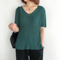(NA2375) 簡約針織上衣