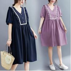 (F9044) 連身裙 (大碼款)
