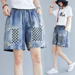 (F9089) 牛仔短褲 (大碼款)