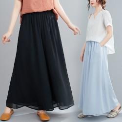 (F9090) 闊腿褲裙褲 (大碼款)