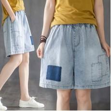 (F9012) 牛仔短褲 (大碼款)