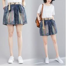 (F9013) 牛仔短褲 (大碼款)